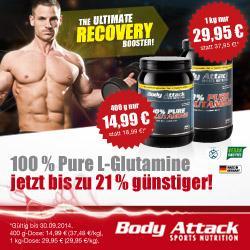 100% Glutamin bis zu 21% g�nstiger im September!