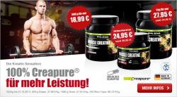 100% Muscle Creatin (Creapure) bis zu 20% reduziert!