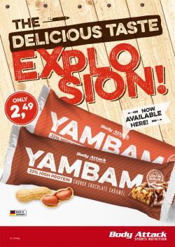 NEU  -  YAMBAM Bar 80g! Die Geschmacksexplosion in deinem Mund