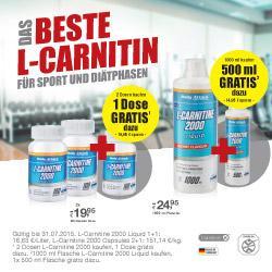 Das beste L-Carnitin! GRATIS Aktion  im Juli!