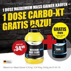 Maxximum Mass Gainer plus GRATIS Carbo-XT!