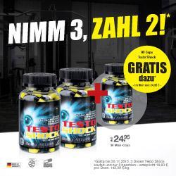 Diesen Monat im Angebot: Testo-Shock 2 plus 1 Gratis!