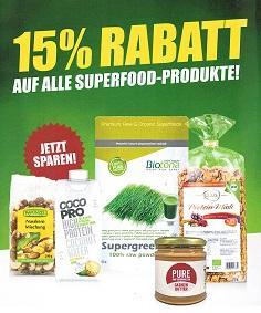 15% Rabatt auf alle Superfood - Produkte!