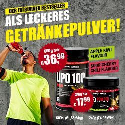 DER Fatburner Lipo 100 - jetzt auch als Getr�nkepulver