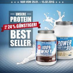 Power Protein 90 uns 100% Whey Protein unschlagbar g�nstig