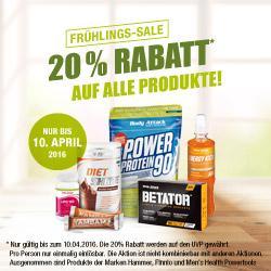 Fr�hlings-Sale 20% auf alle Produkte!!!