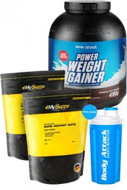MEGA DEAL ! Power Weight Gainer plus Instant Oats und Shaker GRATIS