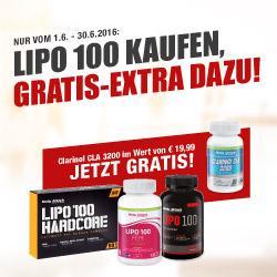 Lipo100 kaufen, Gratis Clarinol CLA dazu!