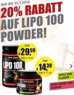 20% Rabatt auf LIPO 100 Powder!