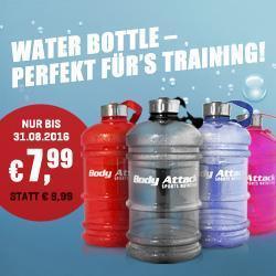 Viel hilft Viel! Body Attack Waterbottle XXL NUR 7,99�