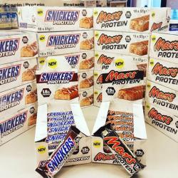 Protein Snickers und Protein Mars
