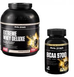 Extreme Whey Deluxe 2,3kg plus BCAA 9700 120er gratis