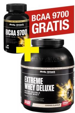 Extreme Whey Deluxe plus Bcaa 9700 120er Monatsaktion
