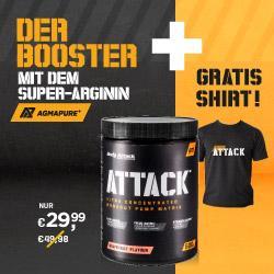 Attack Booster plus Attack Shirt Gratis dazu!