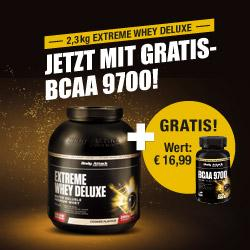 Extrem SPAREN im September: 2,3KG Extreme WHEY Deluxe plus BCAA9700