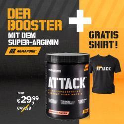 ATTACK Pre Workout Booster und GRATIS T-Shirt