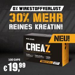 CREAZ - Die reinste, ungebundene Creatinform f�r mehr Energie