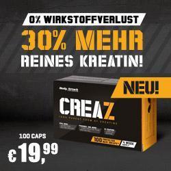 JETZT NEU: CREAZ - WASSERFREIES KREATIN!
