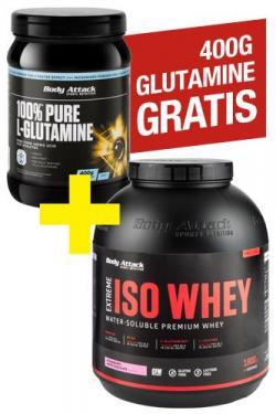 GRATIS 400g - 100% Pure L-Glutamine zum ISO WHEY 1.8kg