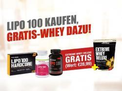 900g Extreme Whey Deluxe Gratis beim Kauf von Lipo 100