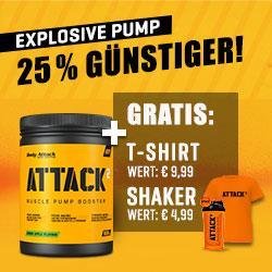 ATTACK² - 600g + ATTACK² Shaker + ATTACK² T-Shirt