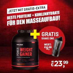 Power Weight Gainer 1,5 kg + ShakeOne gratis *AKTIONSPAKET*