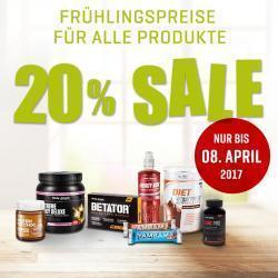 Frühlinsrabatte auf alle Produkte 20%