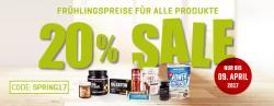 20% Frühlings-Sale Rabatt-Aktion