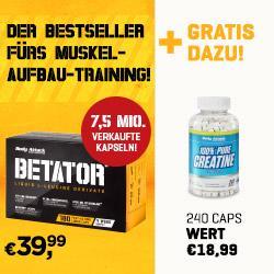 Angebot im Juni: Betator + GRATIS Kreatin!
