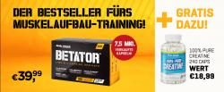 BetaTor 180 Caps + gratis 100% Pure Creatine 240 Caps