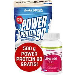 Sixpack-Attack: Lipo 100 kaufen + Power Protein 90 - 500g Gratis!