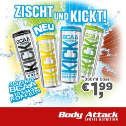 Neu: Body Attack BCAA Kick - 330ml