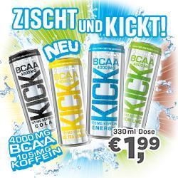 NEU! BCAA-KICK! 0g Zucker - 4g BCAA
