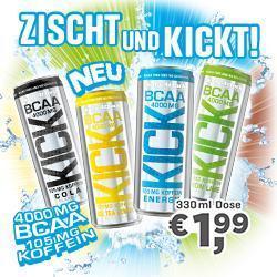 BCAA KICK! 4g BCAA - 0g Zucker