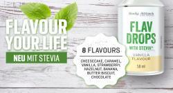 Neu! Flavdrops mit der natürlichen Stevia-Süße!
