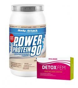1 kg Power Protein 90 kaufen + 1 Packung Detox FEM geschenkt!!