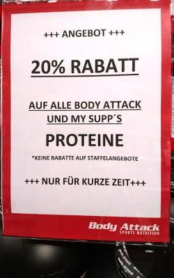RABATTE 20% auf alle Proteine!!! RABATTE