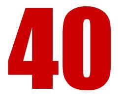 Wir haben 40 Gründe zum Feiern!!!