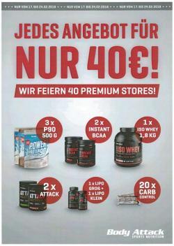 Wir feiern 40 Premium Stores