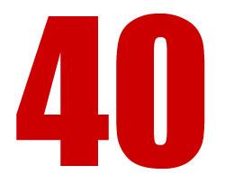 Wir haben 40 Gründe zum Feiern !!!