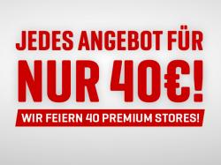 40 Stores, 40 Euro, 6 Top-Angebote