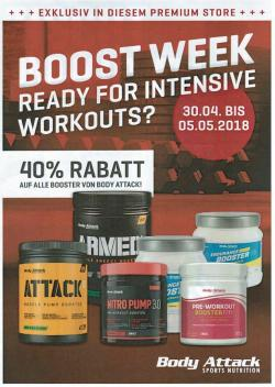 Boddy Attack - Booster Aktion