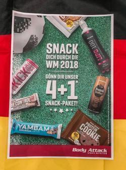 Snack Dich durch die WM 2018 4+1 Gratis