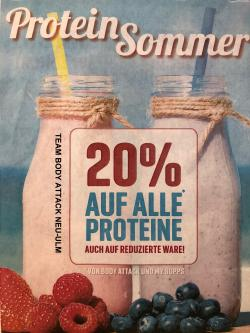 20 % Auf Proteine von Body Attack und MySupps