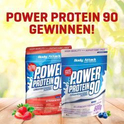 GEWINNE: 2x Power Protein 90/  500 g Beutel!!!