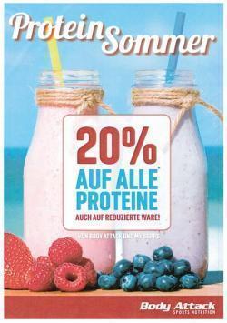 20% Rabatt auf Body Attack Proteine
