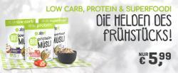 Bio Protein und Low Carb Müsli