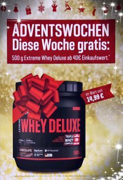 ++ ADVENTSWOCHEN! DIESE WOCHE GRATIS: 500G EXTREME WHEY DELUXE ++