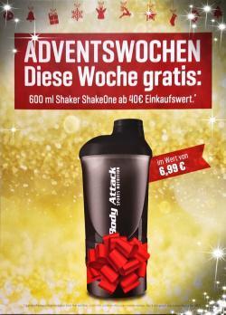 +++ 600ml Shaker ShakeOne GRATIS - 3. Adventswoche +++