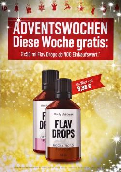 Adventswochen!! Diese Woche GRATIS: 2x 50ml Flav Drops